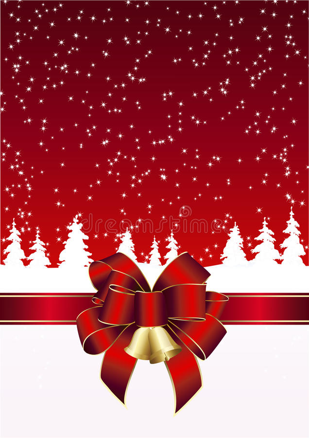 Christmas card in white and red stock images