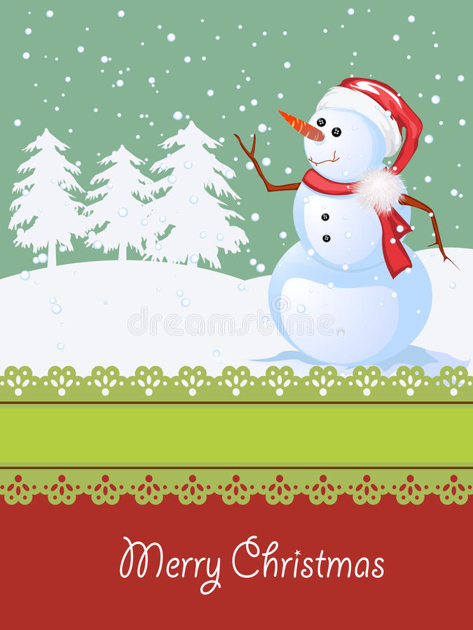 Christmas Card, Winter Celebration Royalty Free Stock Photo