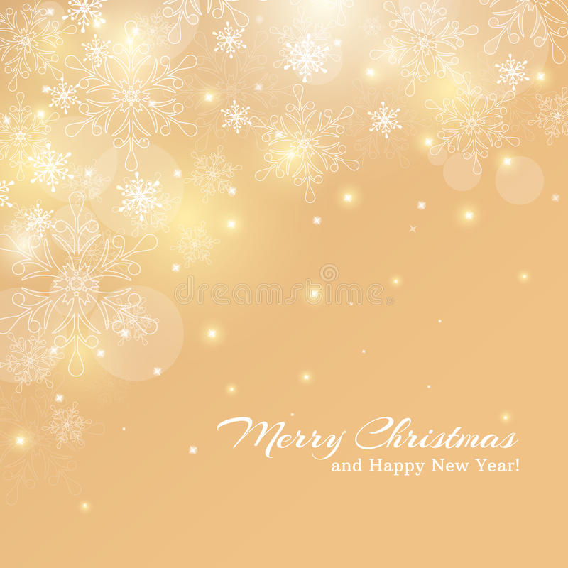 Free Christmas Card With Snowflakes. Vector Background. Stock Photography - 45843262