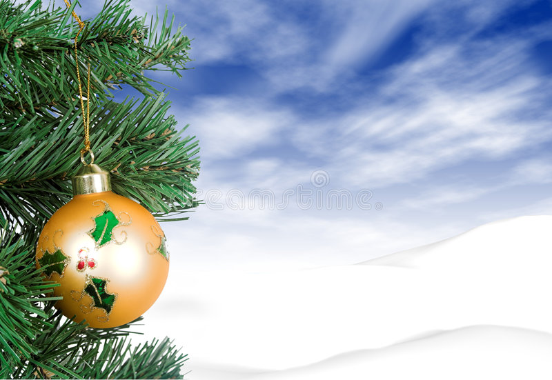 Download Christmas Card -  Yellow Ball Stock Photo - Image of background, decorative: 368532