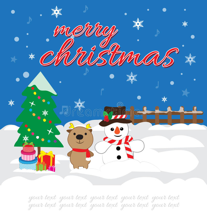 Christmas card. And your text royalty free illustration