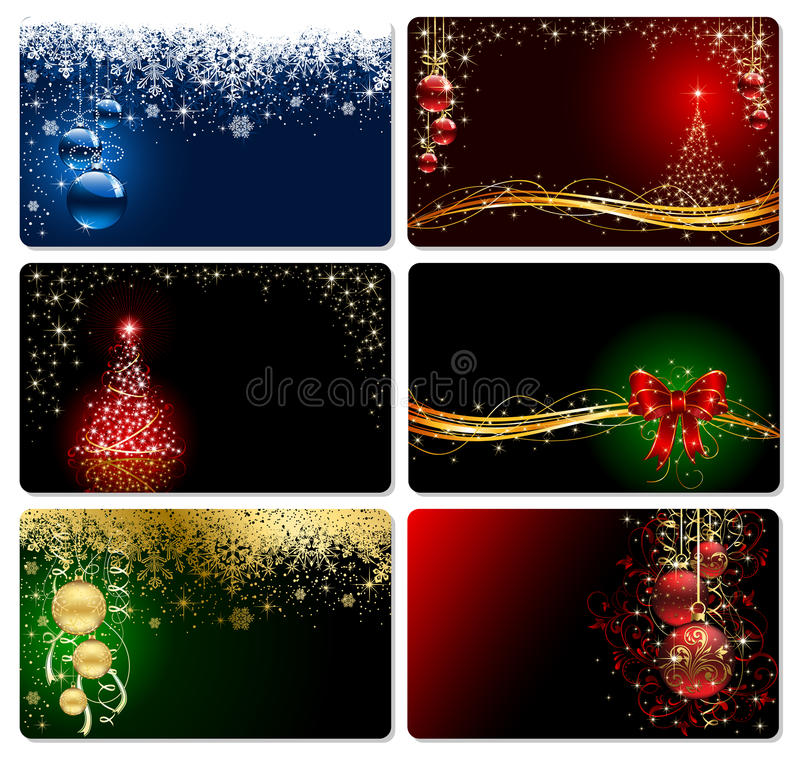 Christmas cards royalty free illustration