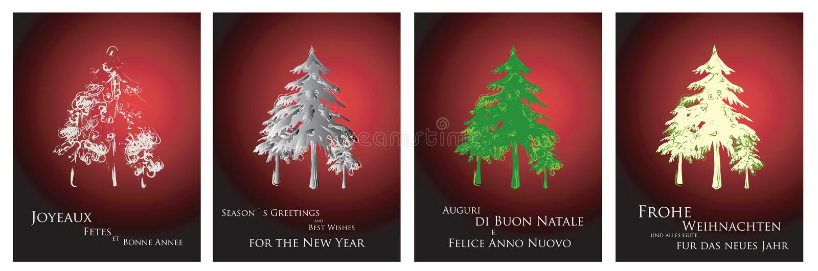 Download Christmas cards 2014 stock vector. Image of drawing, candle - 10864497