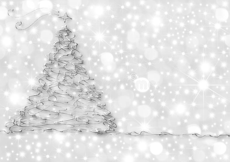 Christmas Cards abstract silver fir royalty free illustration