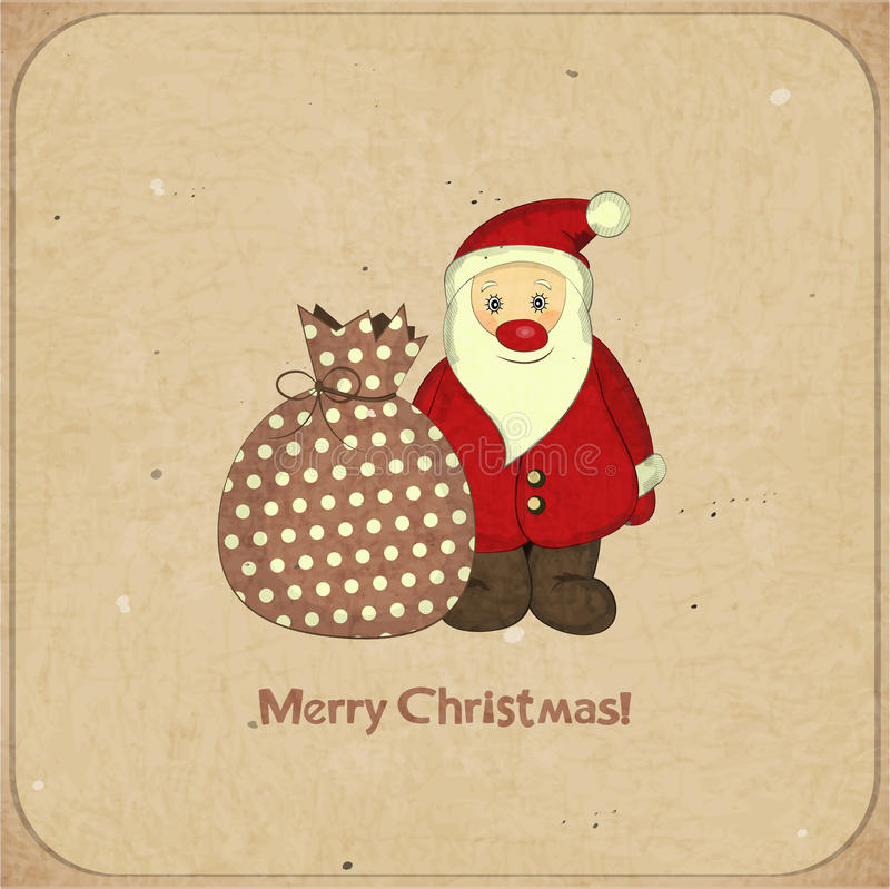 Download Christmas Cards With Cartoon Santa And Gift Stock Vector - Illustration: 26840893