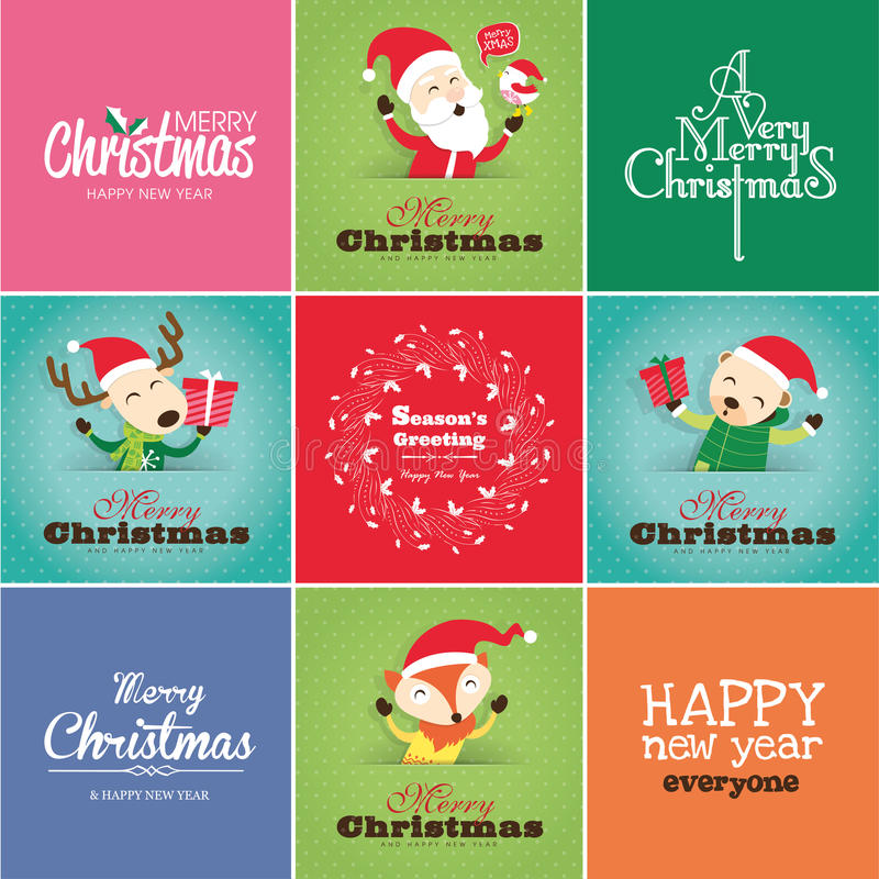 Download Christmas cards stock vector. Illustration of elements - 32433254