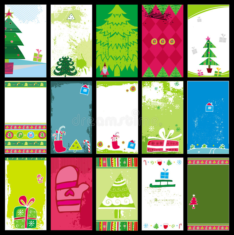 Download Christmas cards templates stock vector. Image of abstract - 6783800