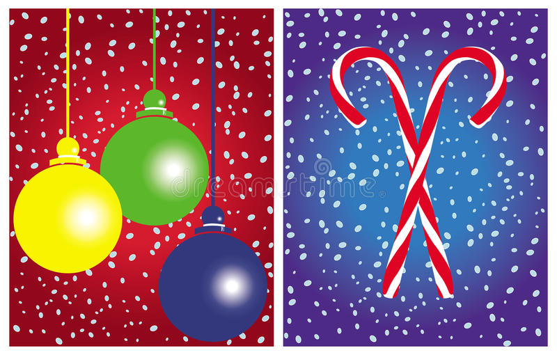Christmas cards vector sets stock photography