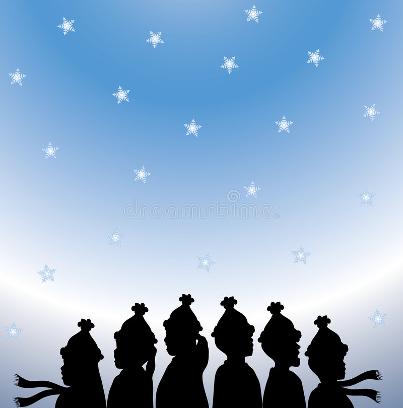 Christmas Carolers royalty free illustration