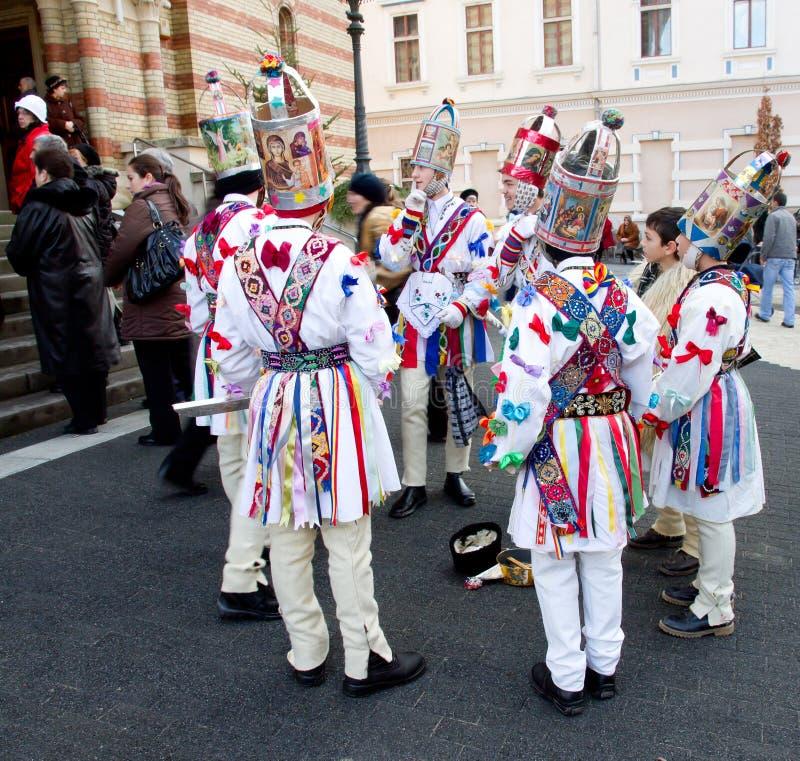 Christmas carolers,Sibiu royalty free stock image