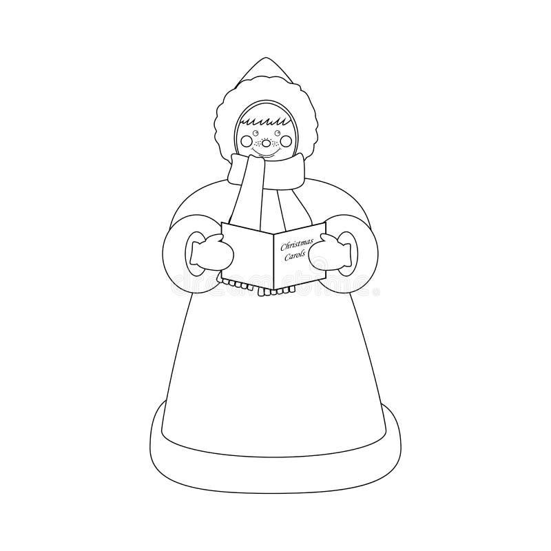 Christmas carols singer stock illustration