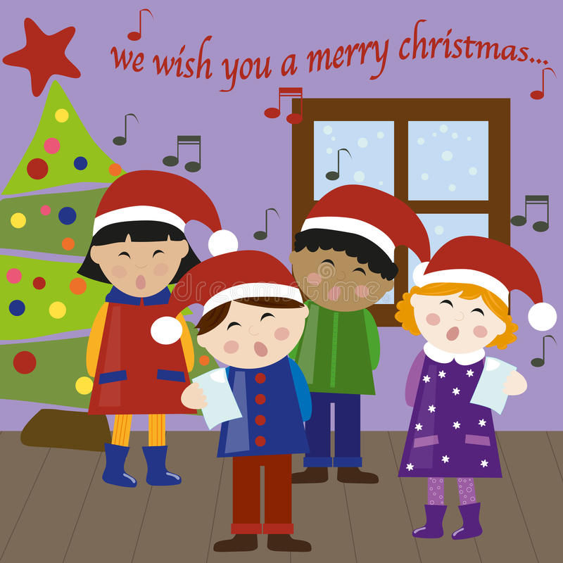 Christmas carols vector royalty free stock photos