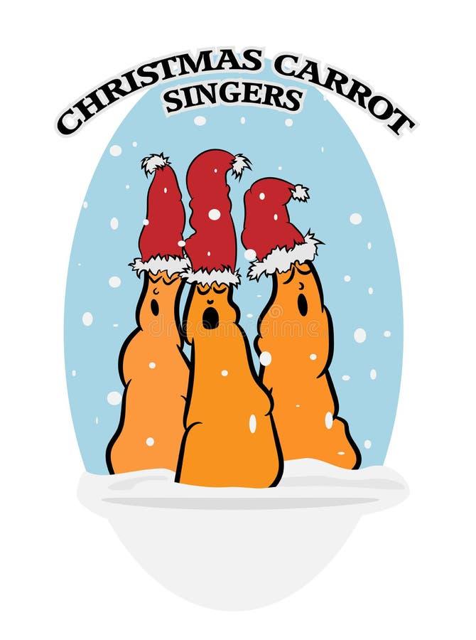 Christmas Carrot Singers royalty free illustration