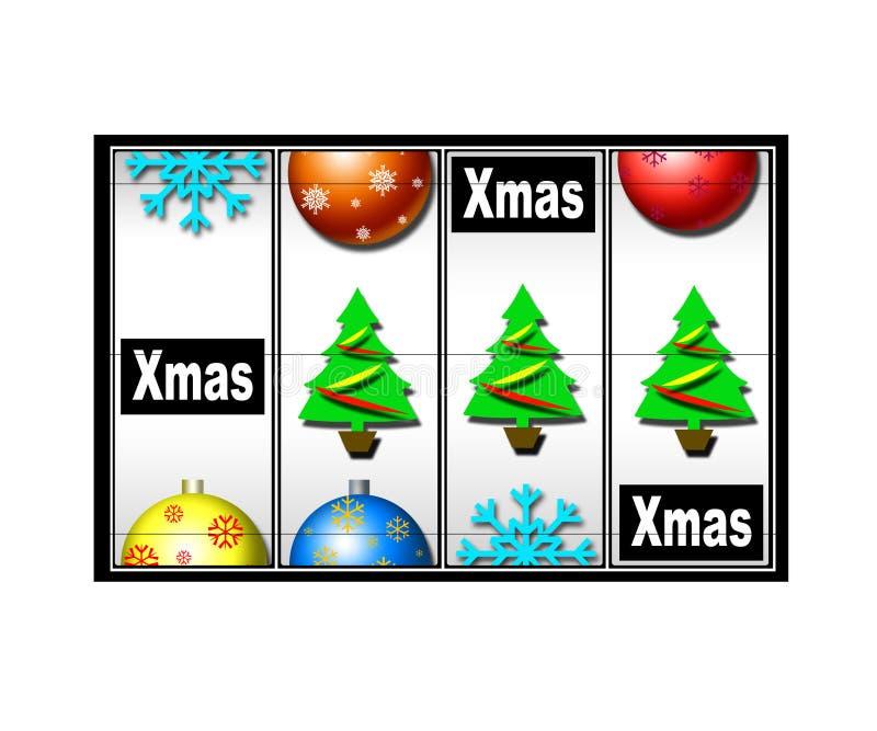 Christmas casino royalty free illustration