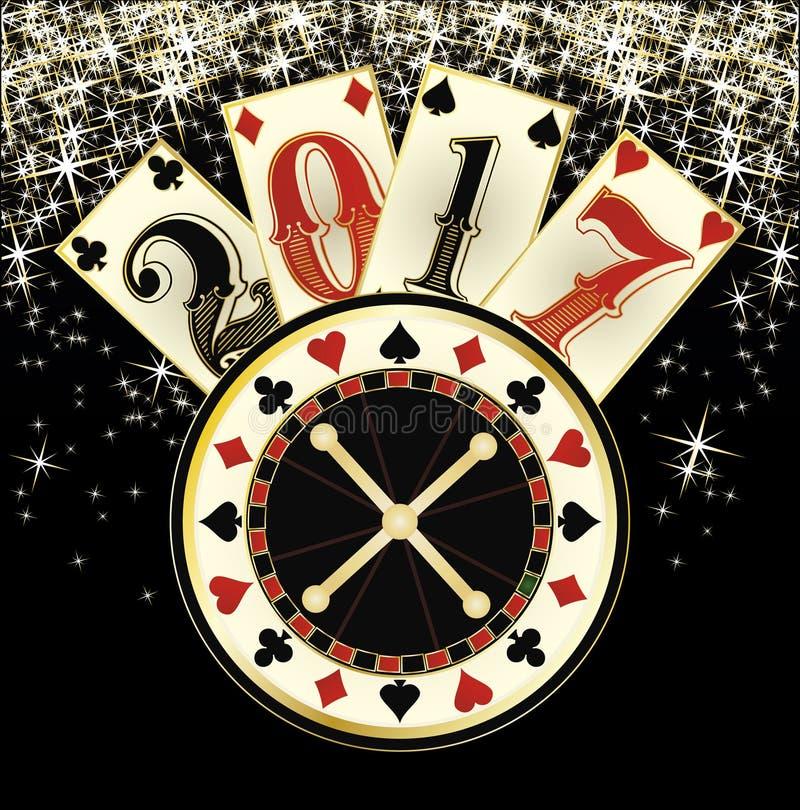 Christmas casino. Happy New year 2017. Vector illustration stock illustration