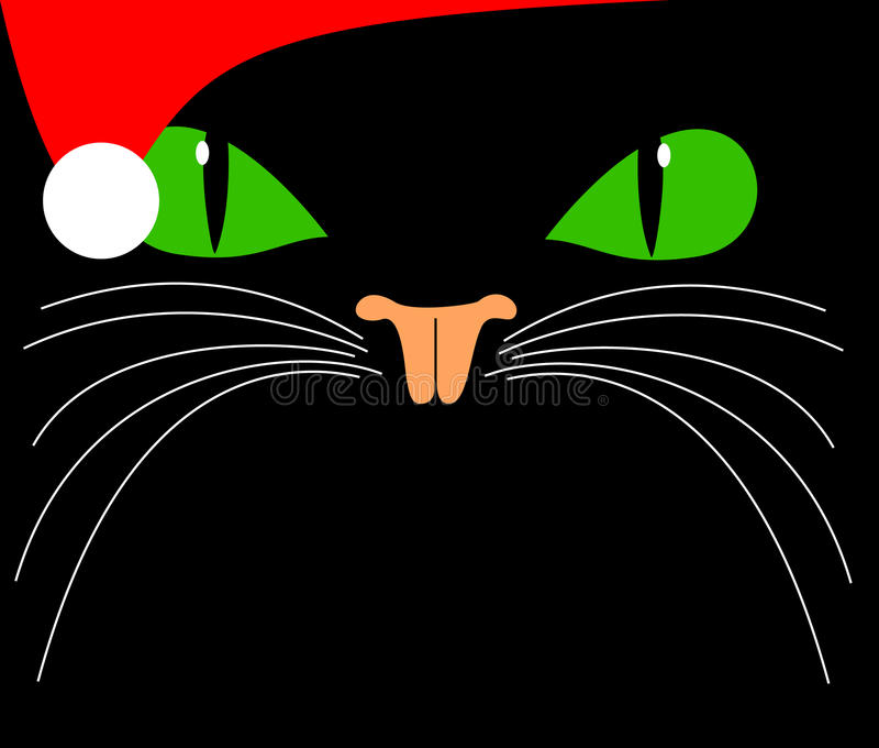 Download Christmas cat stock illustration. Illustration of beauty - 11781657