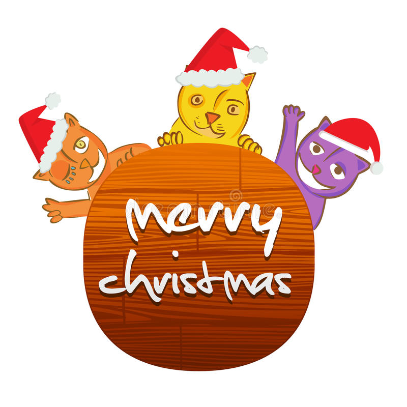 Download Christmas cat stock illustration. Image of figure, christmas - 22040366