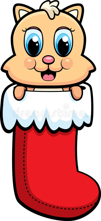 Download Christmas Cat stock vector. Image of cute, christmas, illustration - 8441347