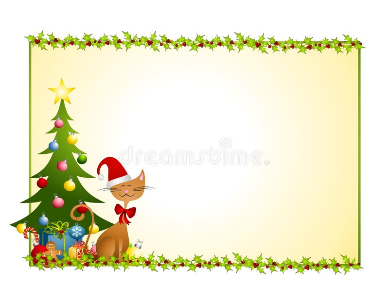 Download Christmas Cat Background stock illustration. Illustration of christmas - 6928000