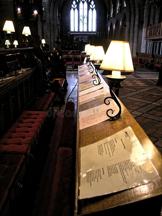Christmas Cathedral Choral Evensong stock images
