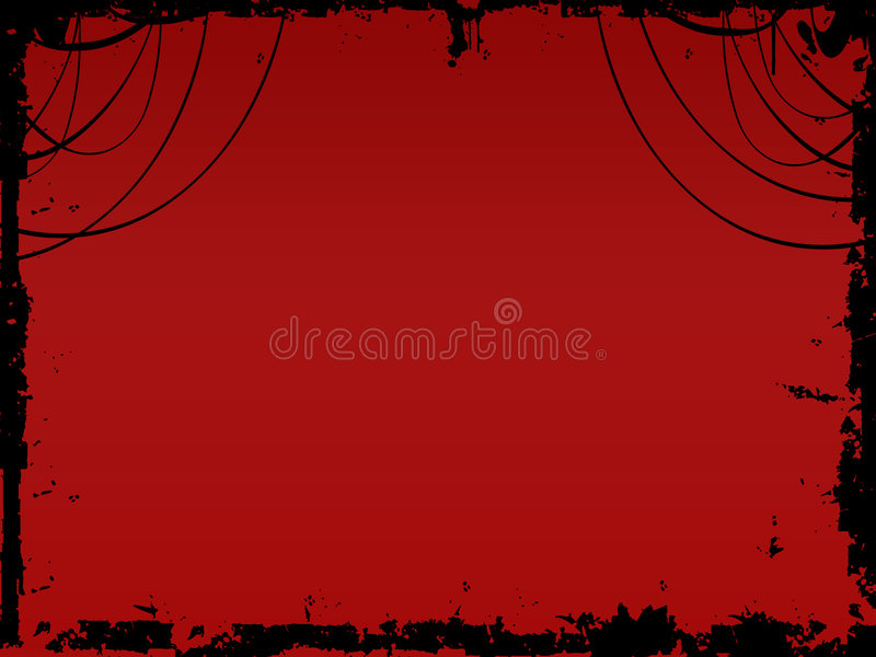 Christmas celebration. A red background with christmas celebration frame vector illustration