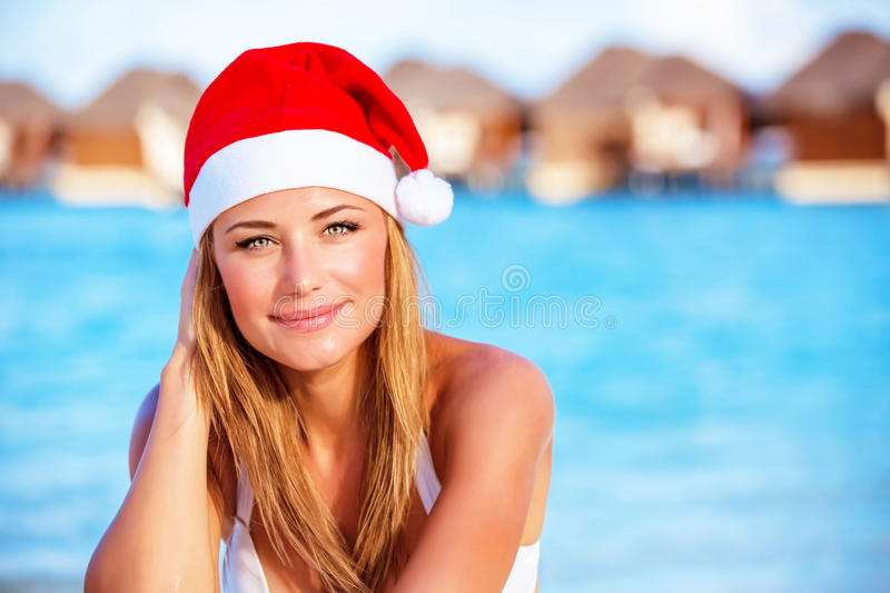 Christmas celebration in warm country royalty free stock image