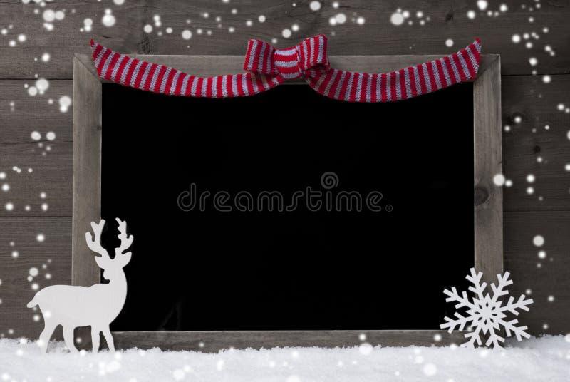 christmas chalkboard  snowflakes  reindeer  copy space