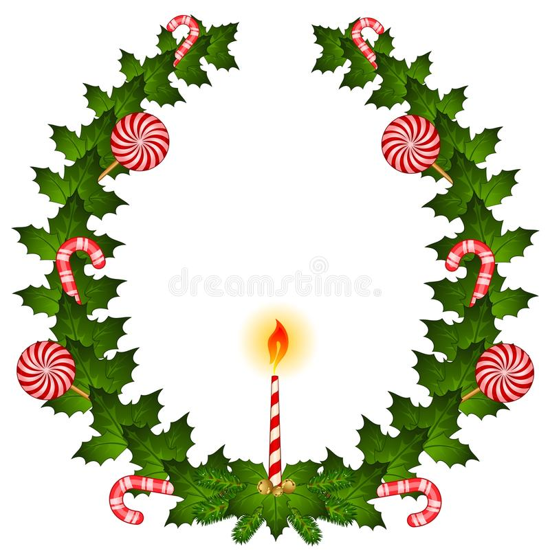 Download Christmas chaplet stock vector. Illustration of sweets - 17552943