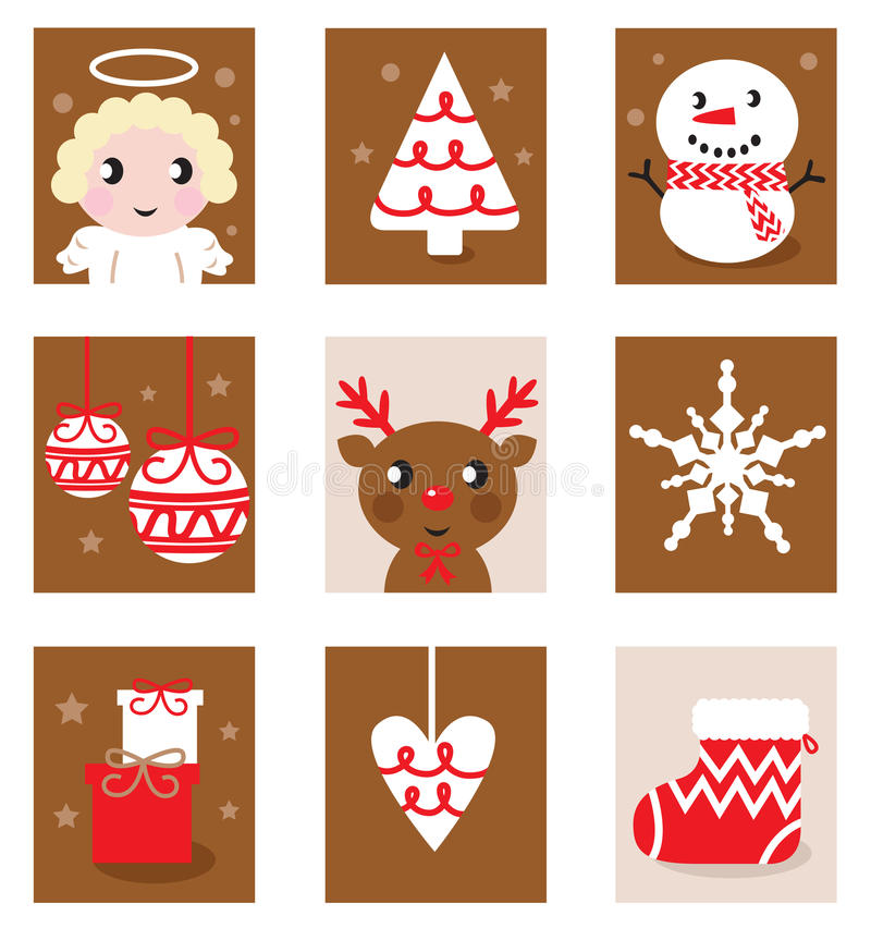 Download Christmas Characters & Accessories Stock Vector - Image: 22336387