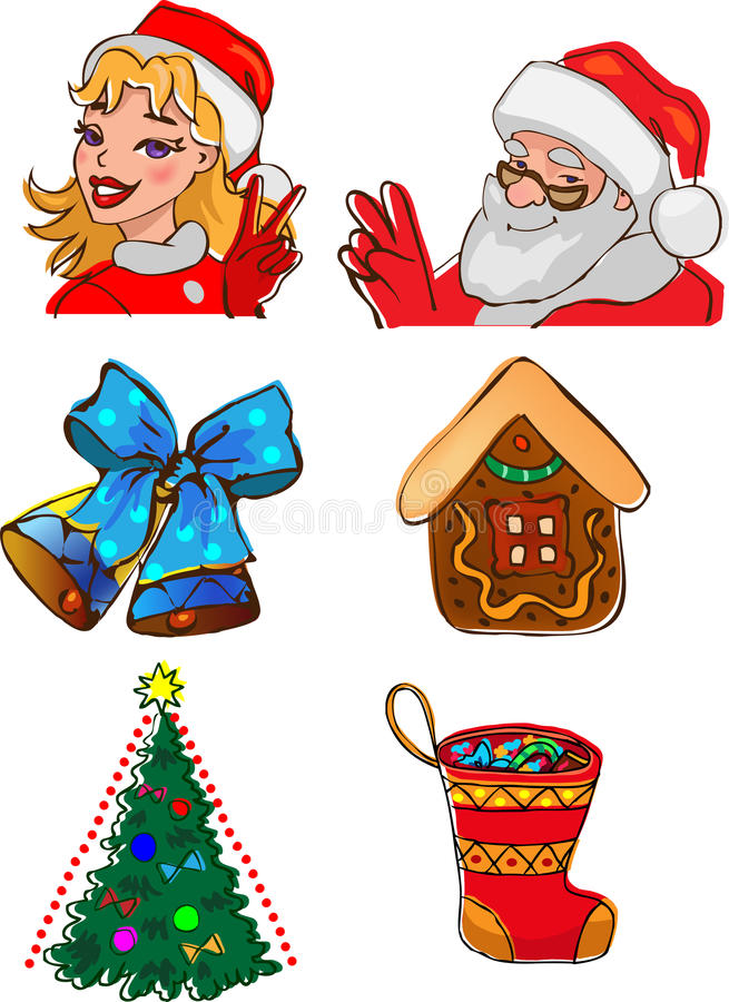 Download Christmas Characters And Gifts Stock Vector - Image: 26538991
