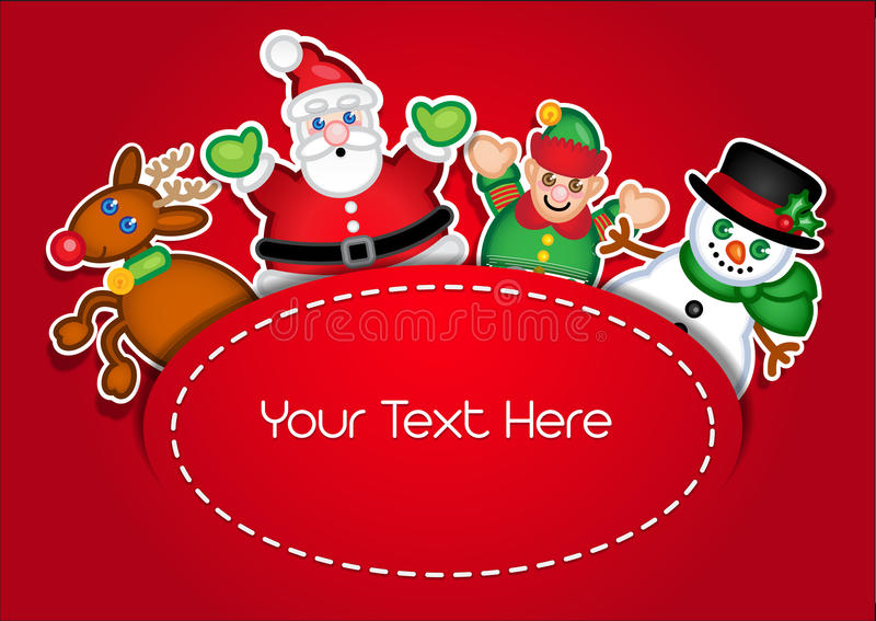 Download Christmas Characters Template Card Stock Vector - Illustration of lovely, modern: 24772020