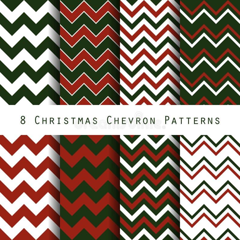 Christmas chevron pattern collection stock illustration