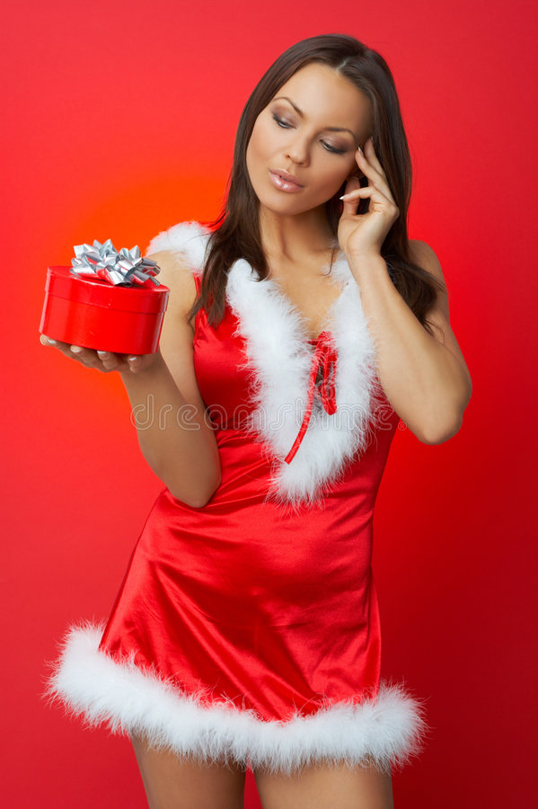 Christmas Chick Royalty Free Stock Photography