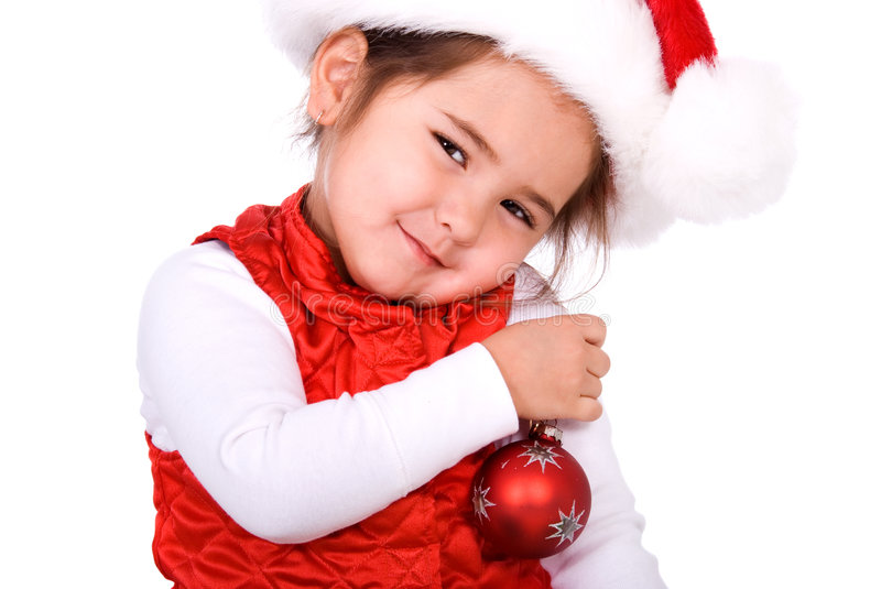Christmas child. stock images