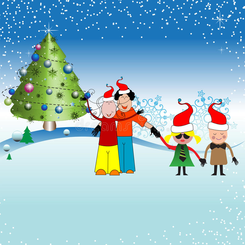 Download Christmas with children stock illustration. Image of christmas - 11711518