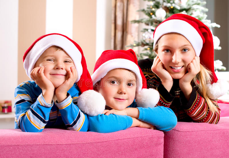 Download Christmas Children stock photo. Image of laughing, hats - 27989300