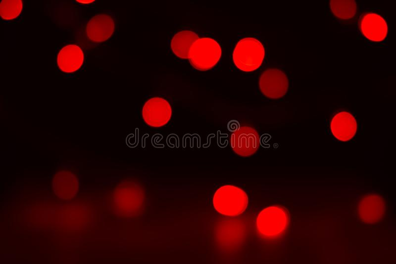 Christmas or Chinese new year red bokeh royalty free stock photography