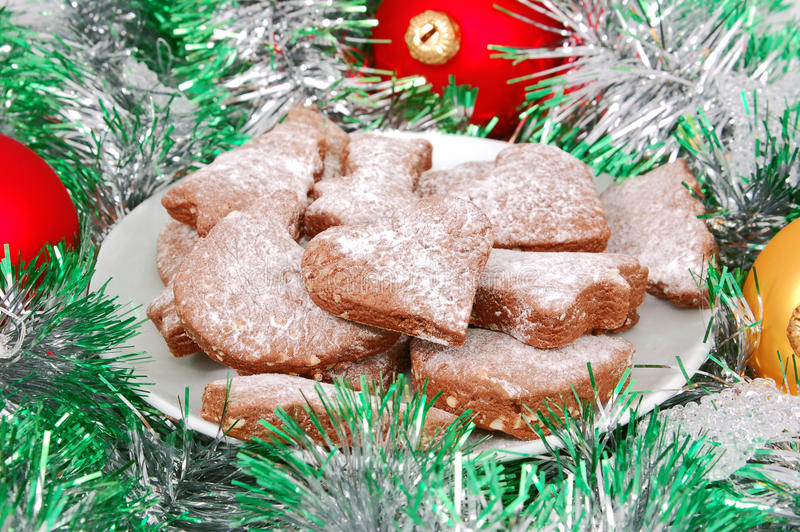 Christmas chocolate cookie royalty free stock photos