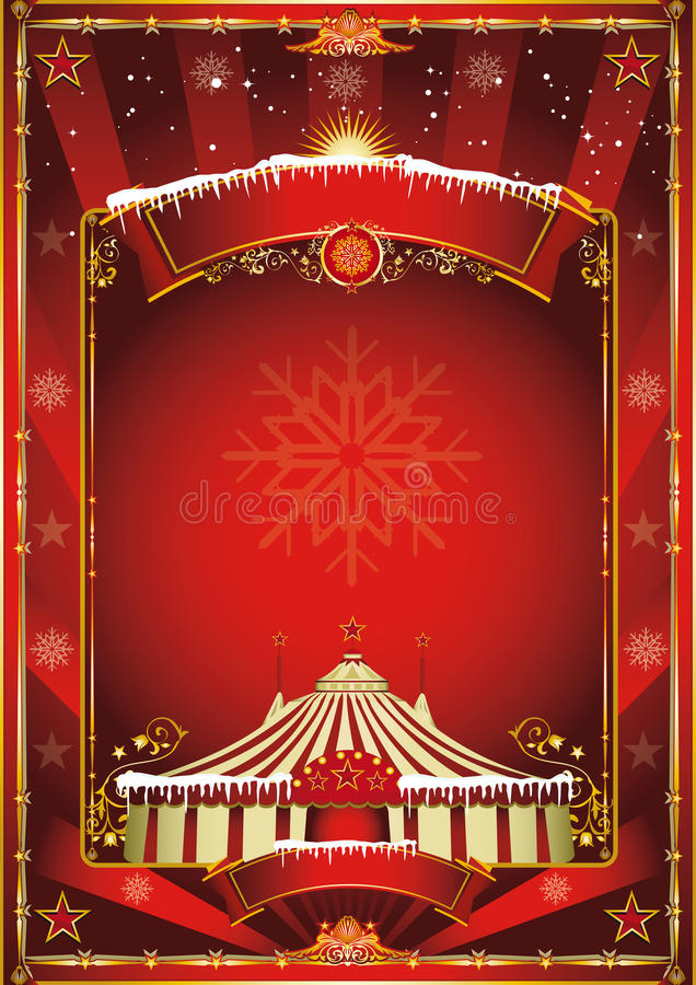Christmas circus background royalty free stock images