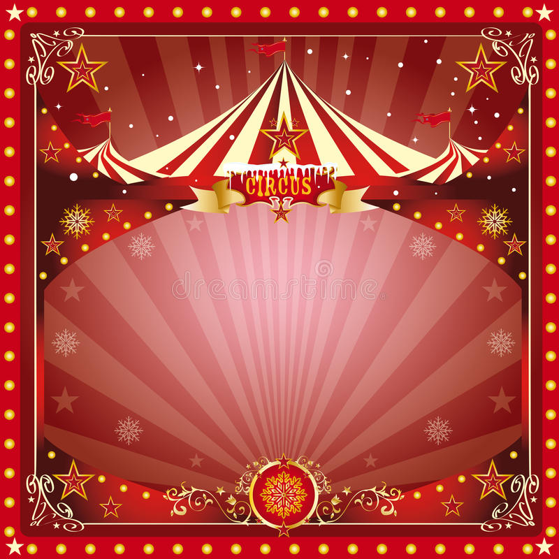 Download Christmas circus card stock image. Image of anniversary - 28191801
