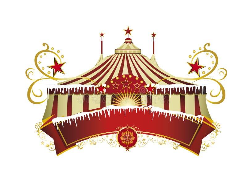 Christmas circus sign royalty free stock photo