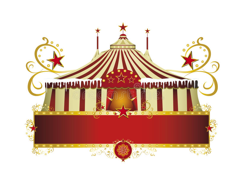 Christmas circus sign stock photos
