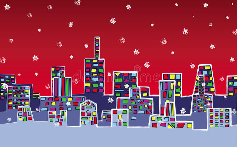 Christmas city royalty free stock images