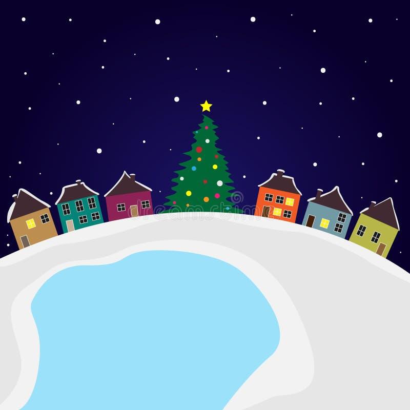 Christmas city stock illustration