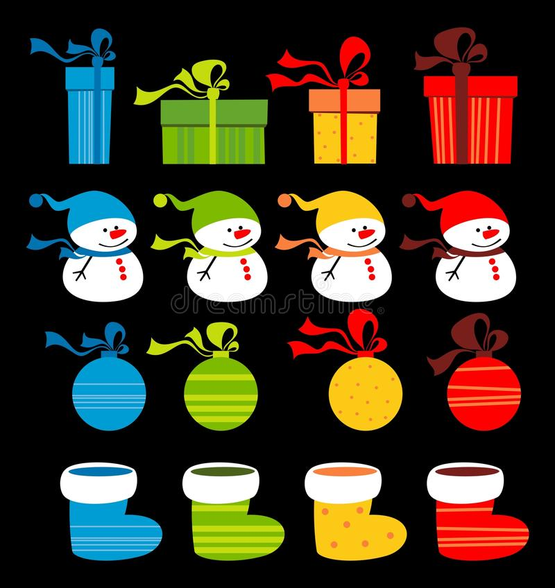 Download Christmas clip-art stock vector. Image of decor, colorful - 23264974