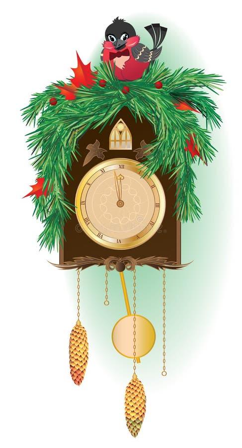 Christmas clock royalty free illustration