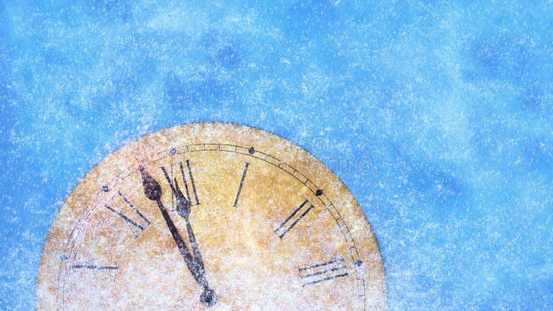 Christmas clock background vector illustration