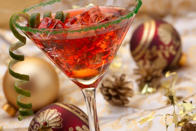 Christmas cocktail stock image