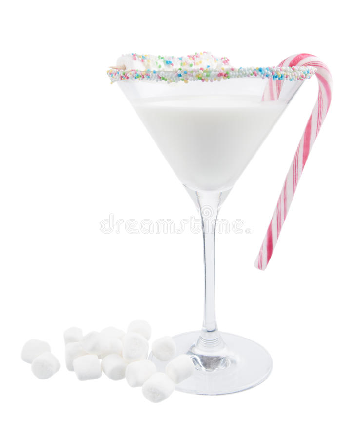 Christmas cocktail royalty free stock photo