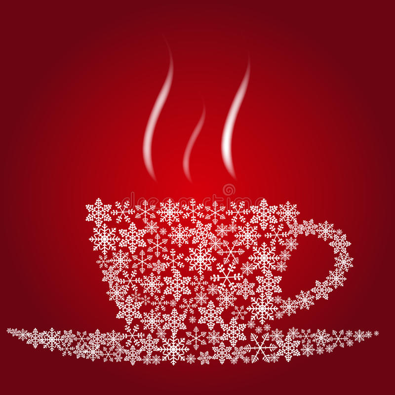 Christmas coffee cup royalty free illustration